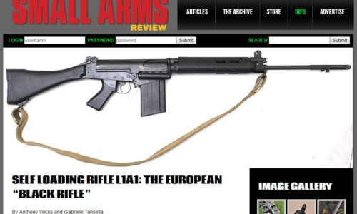 SELF LOANDING RIFLE L1A1: THE EUROPEAN BLACK RIFLE