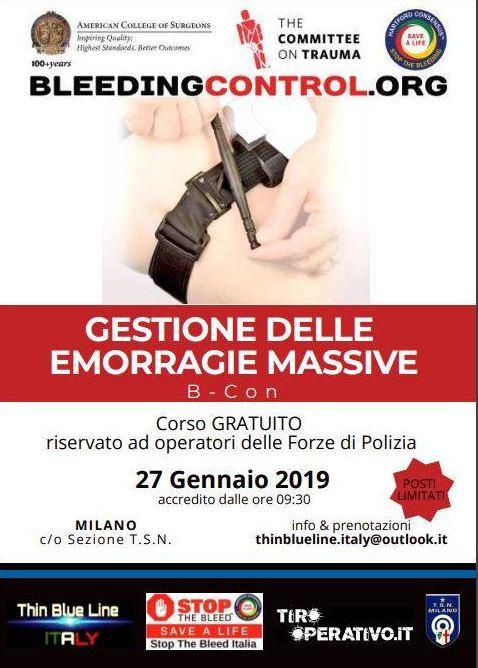 STOP THE BLEED – SAVE A LIFE: SEMINARIO A MILANO
