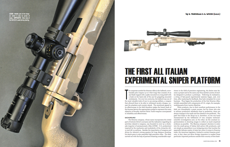 SIR40-24: THE FIRST ALL ITALIAN EXPERIMENTAL SNIPER PLATFORM
