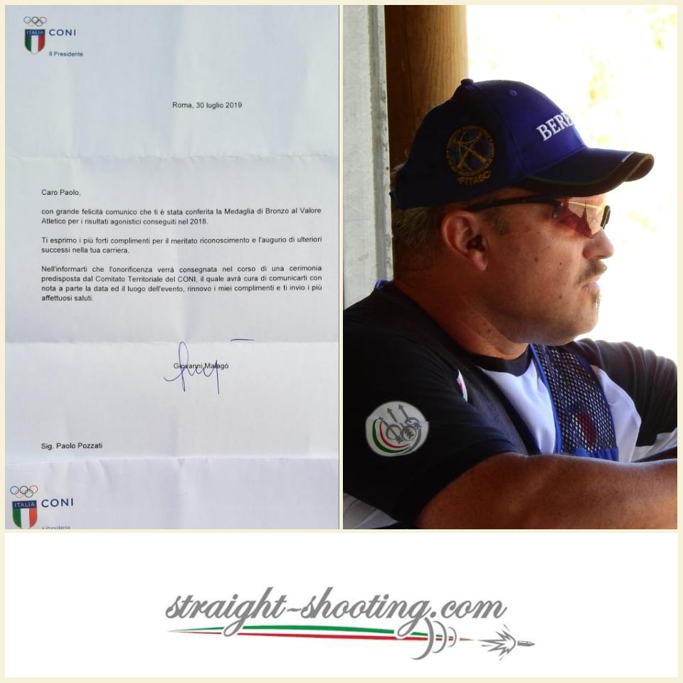 Il C.O.N.I. premia Paolo Pozzati